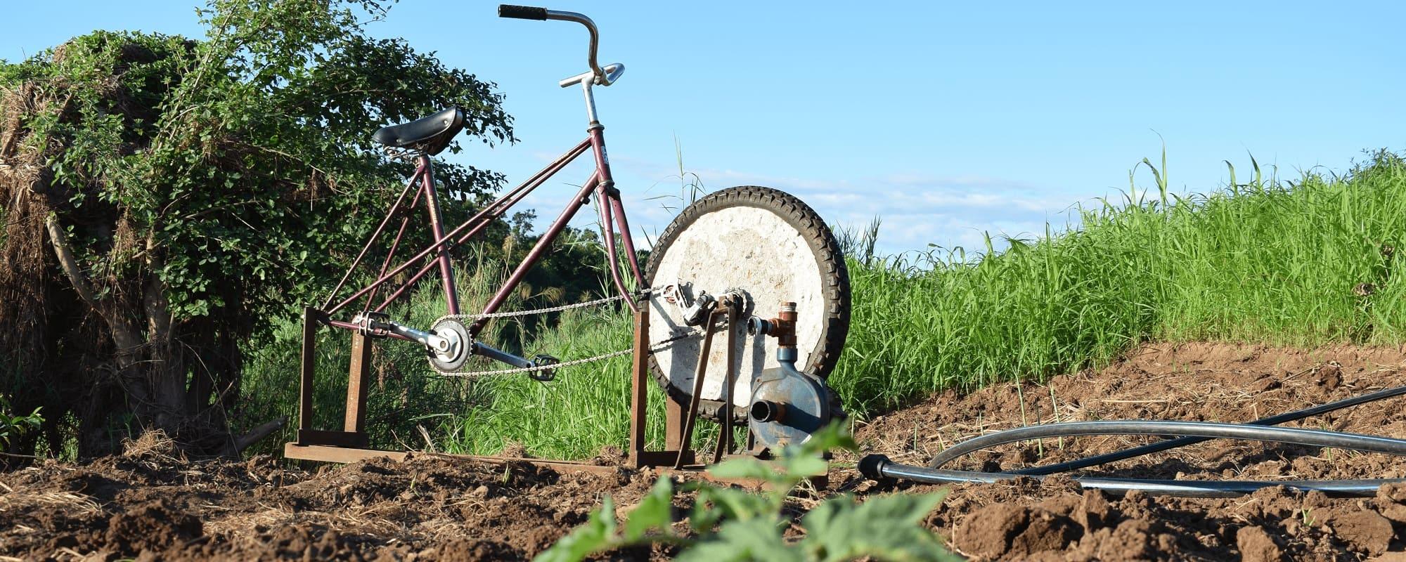 Bici bomba Agua Azada Verde