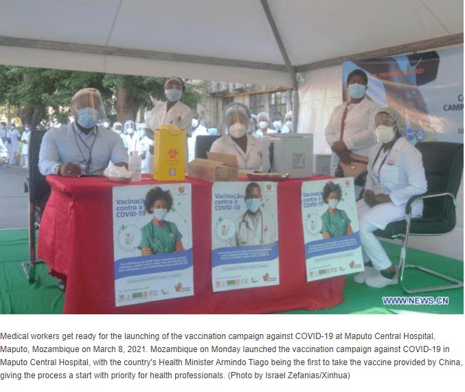 vacuna en Mozambique