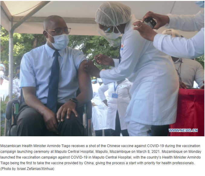 vacuna ministro Mozambique